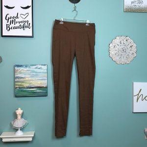 Sarah Pacini Brown Linen Blend Pants 2 G3